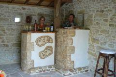 12- Comptoir/bar jardin/cave artisanal