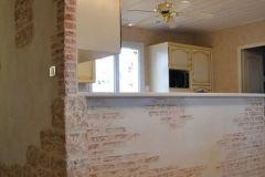 23- Imitation pierre et brique salon/cuisine