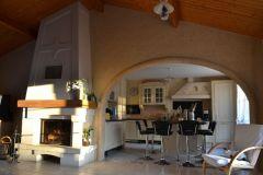 5-Décoration cuisine et cheminée. Stuc pierre, imitation pierre/brique