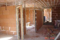 3- Plâtrier. Montage mur en brique