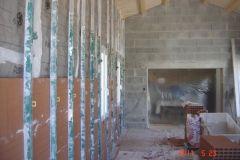 5- Plâtrier. Montage mur en brique
